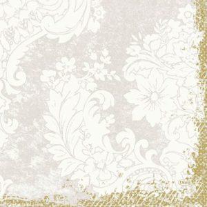 Serviett DUNI 3L 33cm royal white (50)
