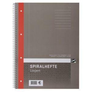 Spiralhefte EMO A4 70g 80 blad linjer