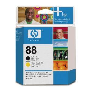 Skrivehode HP C9381A 88 sort og gul