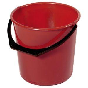 Bøtte plast 10L rød