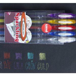 Gelpen-sett glitter (5)