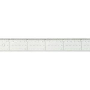 Linjal med tverrmåling 20cm