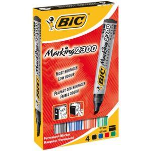 Merkepenn BIC Marking 2300 assortert (4