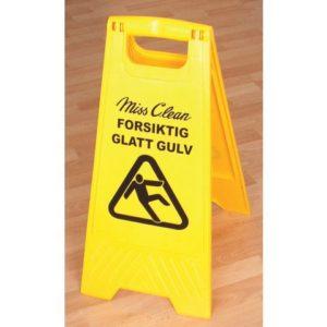 Varselskilt MISS CLEAN glatt gulv