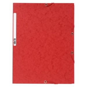 Strikkmappe EXACOMPTA A4 3 kl 400g rød