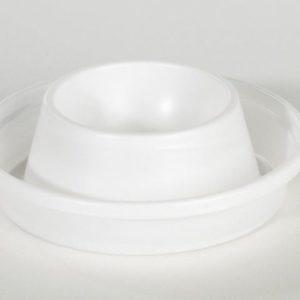 Eggeglass DUNI plast hvit (100)