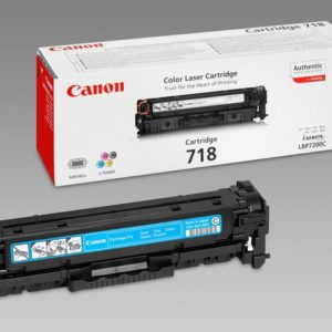 Toner CANON 718C 2.9K blå