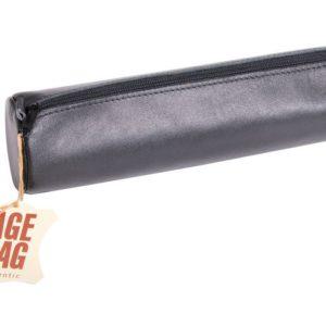 Pennal AGE BAG Ø6x21 cm skinn sort