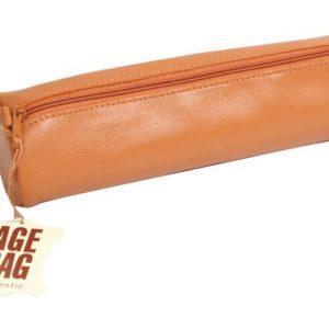 Pennal AGE BAG Ø6x21 cm skinn brun