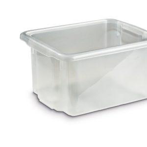 Oppbevaringsboks 23L transparent plast