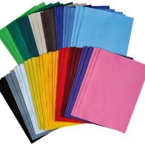 Dekorasjonsfilt 30x20 cm 3x18 farger