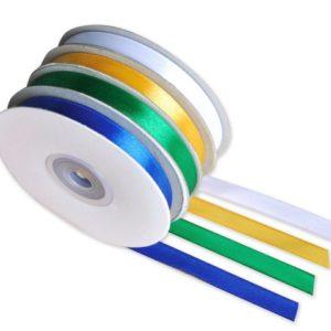 Satinbånd 10mmx30m 4 farger