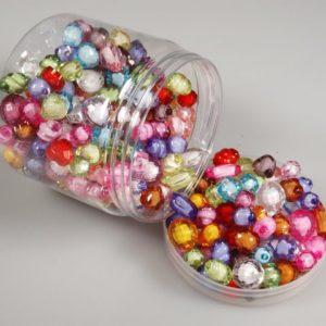 Perler fasett med hvit kjerne (330)