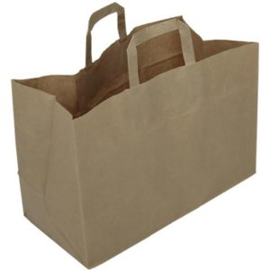 Bærepose papir 17L brun (250)