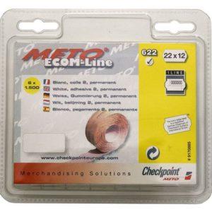 Prisetikett METO 22x12mm rull hvit (6)