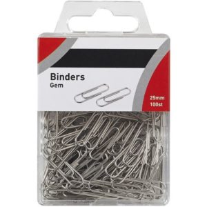 Binders 25mm i plasteske (100)