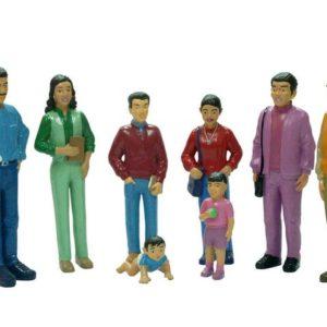 Lekefigurer familie medium (8)