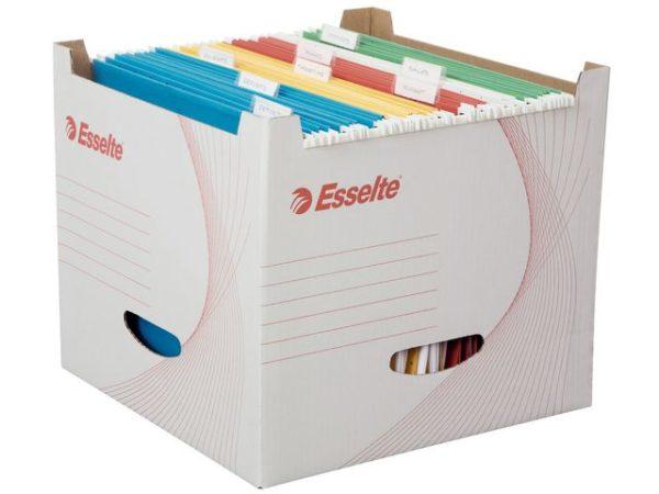 Arkivboks ESSELTE FSC for hengemapper