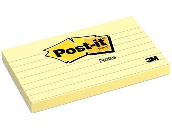 POST-IT notatblokk 76x127 635 linj gul