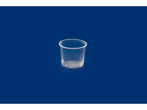 Plastbeger 400ml rund klar PP (1000)