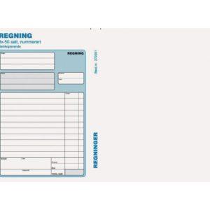 Regning EMO A5 selvkopi. 3x50 sett num