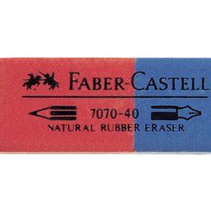Viskelær FABER CASTELL 7070 rød/blå