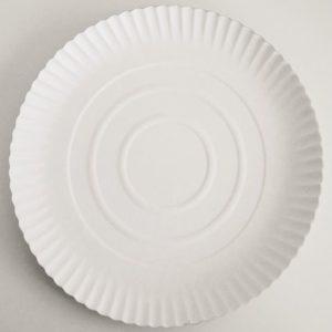 Kakebunn rund 34cm hvit (200)
