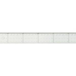 Linjal med tverrmåling 30cm