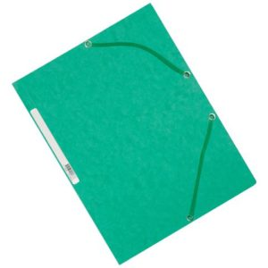 Strikkmappe EXACOMPTA A4 3 kl 355g grøn