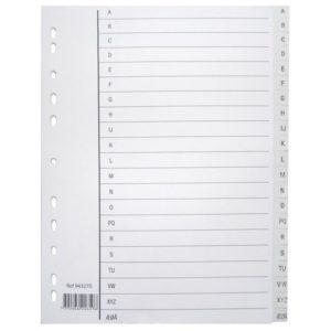 Register A4 PP A-Å m/indeksark hvit