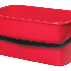 Bøtte plast rektangulær 23L rød
