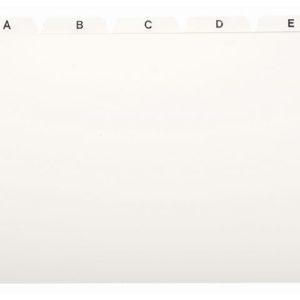 Kartotekregister A6 plast hvit