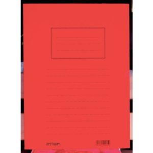 Klaffmappe HEIMDAL A4 3 klaffer rød