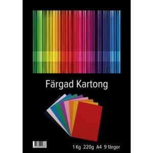 Kartong A4 220g 9 farger 1kg(72)