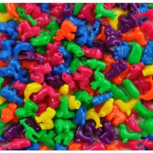 Plastperler dyr store hull (250)