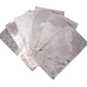 Stjerner sølv 25mm (108)