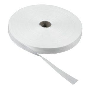 Bomullsbånd 13mmx50m hvit