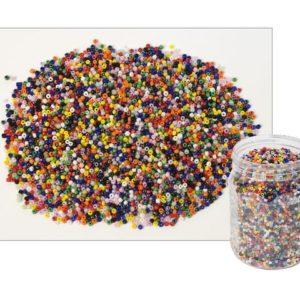 Glassperler assorterte farger 500g