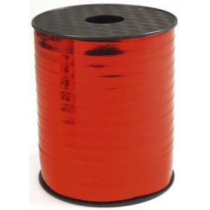 Gavebånd 250mx10mm metallic rød