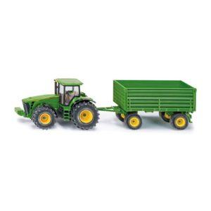 Traktor JD SIKU med henger skala 1:50