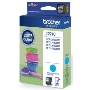 Blekk BROTHER LC221C blå