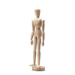 Modelldukke i tre 30cm