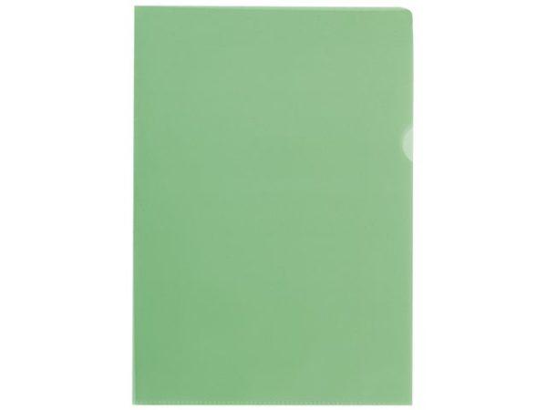 Plastomslag A4 PP 100my grønn (100)