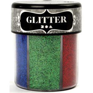Glitter 6x13g 6 assorterte farger