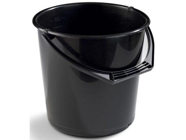 Bøtte plast 10L sort