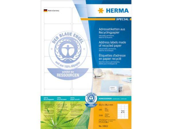 Etikett HERMA resirk A4 63