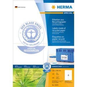 Etikett HERMA resirk A4 105x148 (400)