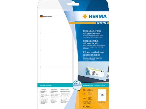 Etikett HERMA adr flytt A4 96x50