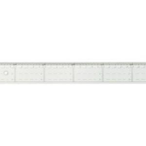 Linjal med tverrmåling 50cm