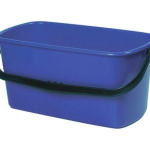 Bøtte plast rektangulær 23L blå